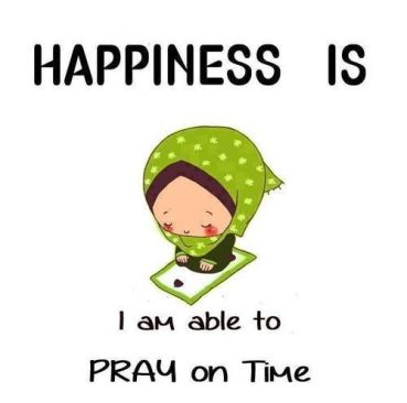 happiness is pray on time