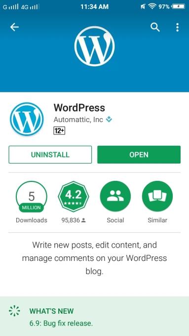 WordPress in Android